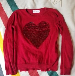 H&M 4-6y fine gage flip sequin sweater